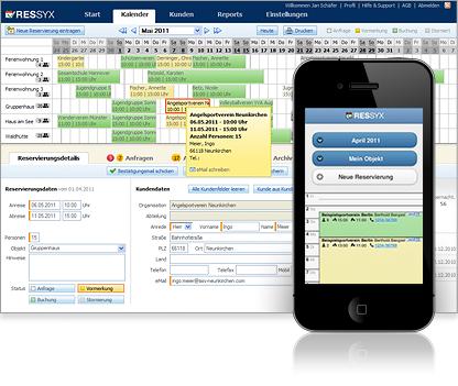 RESSYX - Buchungssystem mit Belegungskalender