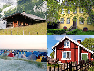 Management of holiday apartments, bed and breakfast, group houses, and camping sites